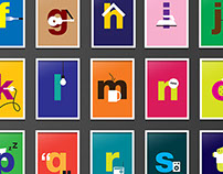 Cute alphabet posters