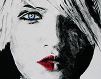 Nina kijkt - Painting 100x80 cm