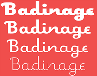 Badinage® An eight weight vertical connecting script.