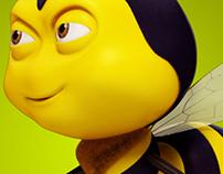 Cartoon bee 3d