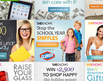 My work at SheKnows: Cobrands & Banners