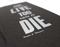 Letterpress Quote Poster