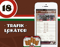 Trafik Lokátor iPhone Application design