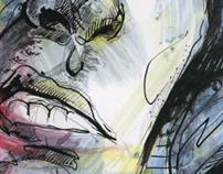 illustrations(ink, acrylic), 2008