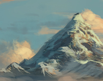 Dedicated practicing Digital Landscape Paintings.