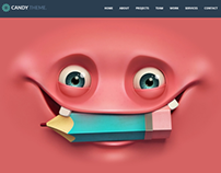 Candy - Flat Onepage HTML5 Template