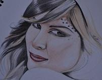 Portrait Kat Von D - in process