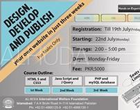 Flyer  for web design course