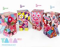 TaraBots Spring Edition Paper Toy DIY Robots Craft Kit