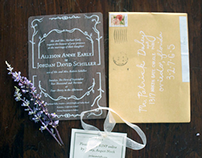Schiller Wooden Wedding Invite