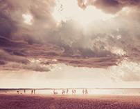 Sandstorm at beach