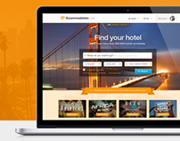 Accommodation.com Hotel Booking Website - Concept