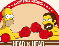 A fight for a sandwich