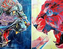 Jaguar Paintings - by Jacqui Oakley & Jamie Lawson