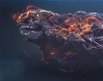 Burning Rock - Animation