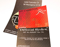 Art Exhibition Flyers for Art Xscape