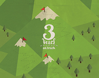 3d anniversary greeting card