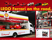 Shell LEGO Ferrari On Road
