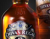 Chivas Regal 12yr old whisky /// 3D Creative Vis & Adv