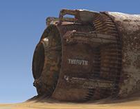 A ruin in the desert