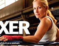 Boxing magazine spread