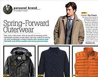 Men's Fashion magazine design