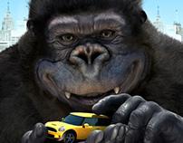 mancrafts_ 3D King Kong rendering