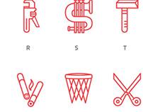 Symbol alphabet, carattere iconografico
