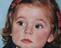 New paintings: Saverio's & Giorgia's portrait