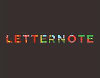 Product shots - letternote notebooks