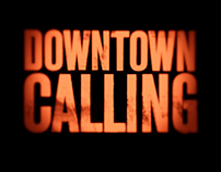 DOWNTOWN CALLING identity, logo, & website