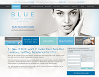 BLUE MedSpa Site Redesign & Internet Marketing