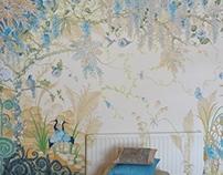 Wisteria Wonderland, Mural