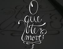 Lettering - O que te move?