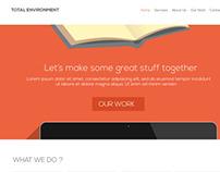 Total Environment Web Development Agency, Site Design