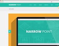 Narrow Point - Flat web design