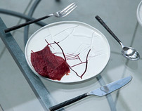 Bloody meal ceramic plates.