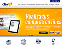 Clave3 website banners