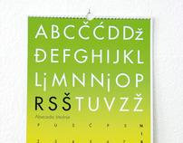 Alphabet of Saving Calendar