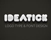 IDEATICK Logo TYPE & Font Design