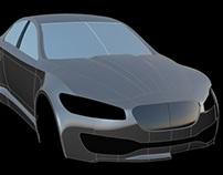 Jaguar XF concept model