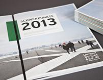 Schwerpunkte 2013 - Jahrespuplikation des UBA