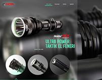 Flashlight web template design for METEM TEKNOLOJI co