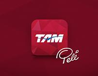 app iOS . TAM - Copa das Confederações 2013