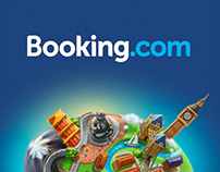 Booking.com promo-site illustration