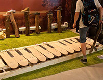 Element Skateboard Floor Piano