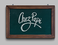 Chez Papi - Logo - Hand made lettering
