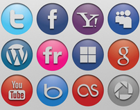 Engraved Social Media Icons