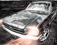 Ford mustang retouch