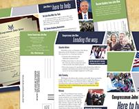 Brochure w/Reply Card for Congressman John Kline